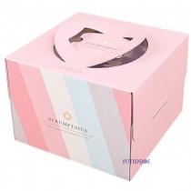 納迪亞 6吋手提布丁蛋糕盒 (20*20*13cm)