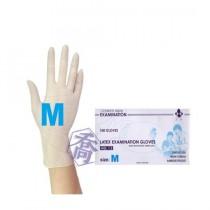 三花H252乳膠有粉手套(M)(100入/盒)