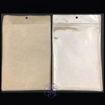 台製-牛皮+PET 三面封夾鏈平袋(160*255mm)(50入/包)