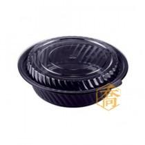 【B700】7吋黑底微波圓盒(13*6.1cm)(50組/包)