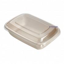 【整箱預訂】CR-1000 植物纖維方型餐盒(22.3*16*5cm)