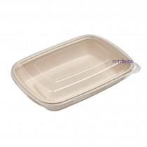 【整箱預訂】CR-750 植物纖維方型餐盒(22.3*16*4.1cm)