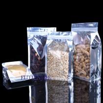 進口-鍍鋁開窗方底夾鏈立袋 (140*240+60mm)(50入/包)