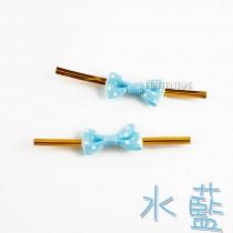 點狀小蝴蝶(水藍)魔棒8cm(24入/包)