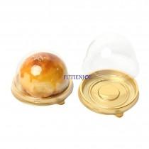 進口-丸型單粒蛋黃酥自扣盒(金)(7*4.5cm)(50入/包)