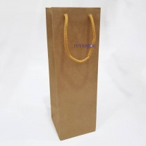 Paper-單罐 本牛手提紙袋(11*11*34.5cm)#牛皮