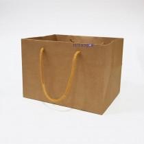 原色環保本牛手提紙袋(小平放袋)(21*16*15cm)