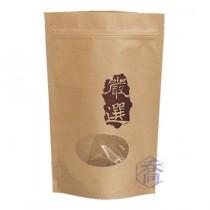 嚴選 牛皮夾鏈立袋 (160*250+40mm)(50入/包)