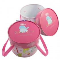 【整件預訂】馬卡樂園(粉) 圓形糖果盒(18*14cm) #不提供貨到付款