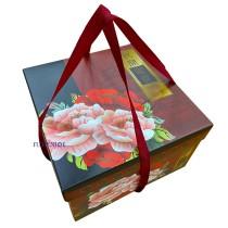 富貴砂鍋 正方手提5000cc年菜盒 (28.5*28.5*18cm)