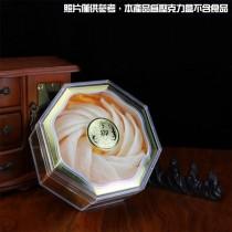 JS-802御臻品八角壓克力盒(印字款)(20*20*7.5cm)