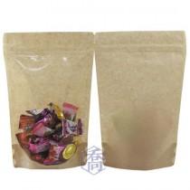 半斤 無印牛皮KPET保鮮夾鏈立袋 (165*250+45mm)(50入/包)