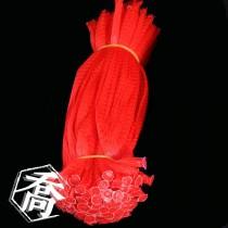 6寸半(20cm) 紅網袋(100入/束)