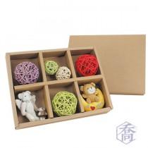 6格高級原色環保盒 (31.8*24.3*4.5cm)
