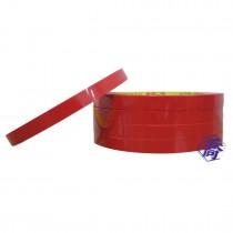 【買10送1】紅-束口機膠帶9mm