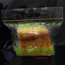 雅比美物(綠)手提夾鏈微立袋(290*195+55+40mm)(50入/包)