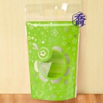 花語(綠)手提夾鏈微立袋(170*240+40+35)(50入/包)