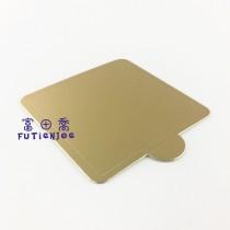 【買10送1】金色方型7.6*7.6cm蛋糕紙托(50入/包)