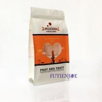 進口-愛心橘 方底夾鏈立袋 (120*220+50mm)(50入/包)