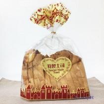 OPP 吐司袋-城堡(咖) (28*35+10cm) (1KG/包)