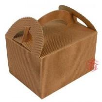 手提瓦楞餐盒(小)(14.5*11*9cm)