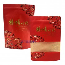 進口-臻情牛皮(小) 霧面鏤空夾鏈立袋 (150*215+40mm)(50入/包)