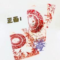 FJ-822 富貴長紅 手提夾鏈立袋 (180*320+45mm)(50入/包)