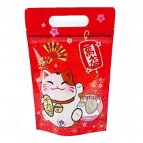 台製-FJ-860千萬兩招財貓(紅) 手提夾鏈立袋 (180*280+40mm)(50入/包)