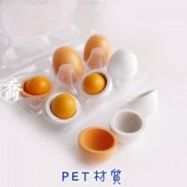 加厚平底自扣PET-6粒蛋盒(15.4*10.5*6.6cm)(100入/包)