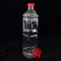 S1000cc四角紅蓋PET果汁瓶(120支/箱)
