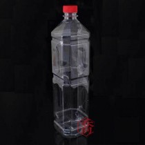 S1200cc四角紅蓋PET果汁瓶(120支/箱)