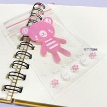 【3號】PP印刷夾鏈袋-愛的禮物小熊(粉)(7*10cm)