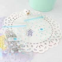 2號PP印刷夾鏈袋-愛的禮物(藍)(6*8.5cm)