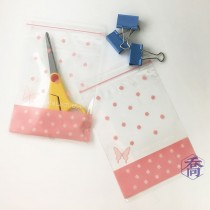 6號PP印刷夾鏈袋-愛的禮物(粉)(12*17cm)
