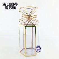 105(金)PVC六角手工盒(8.5*10*14cm)