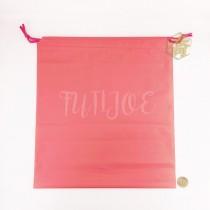 37*41+6*34cm粉紅束口折角袋