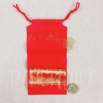 10*20*7cm福氣紅束口袋