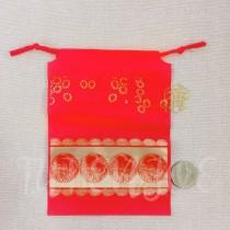 13*18*10cm福氣紅束口袋