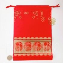 22*32*19cm福氣紅束口袋