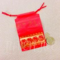9*13*6cm福氣紅束口袋